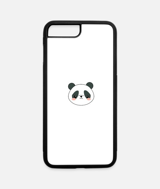 Cute iPhone Cases - Kawaii Panda - iPhone 7 & 8 Plus Case white/black