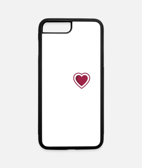 Martial Arts iPhone Cases - My heart burns for Wing Chun - iPhone 7 & 8 Plus Case white/black
