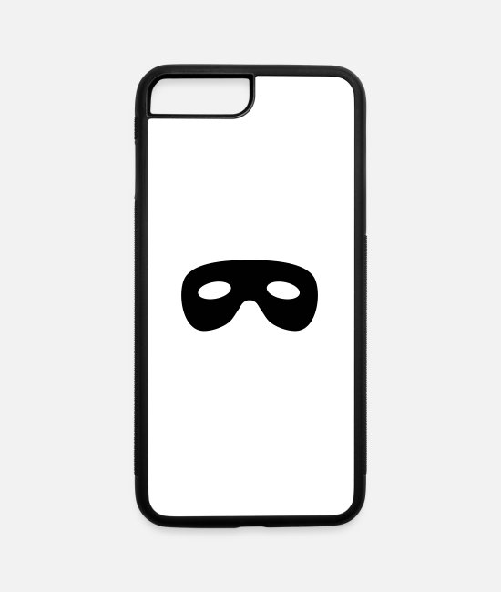 Superhero iPhone Cases - mask Bandit - iPhone 7 & 8 Plus Case white/black