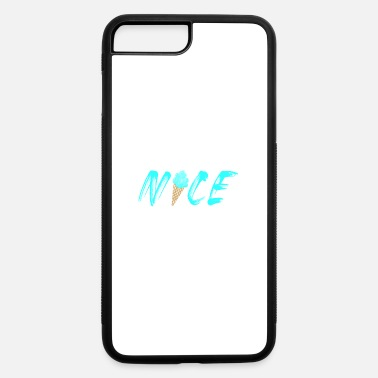 Sun Nice ice cream cool summer sun beach blue - iPhone 7 & 8 Plus Case