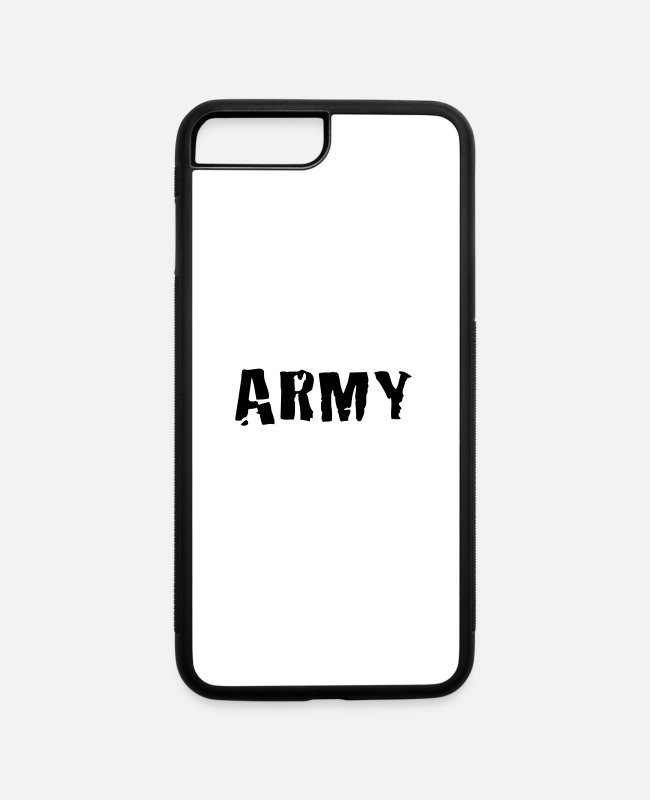 Army iPhone Cases - army - iPhone 7 & 8 Plus Case white/black