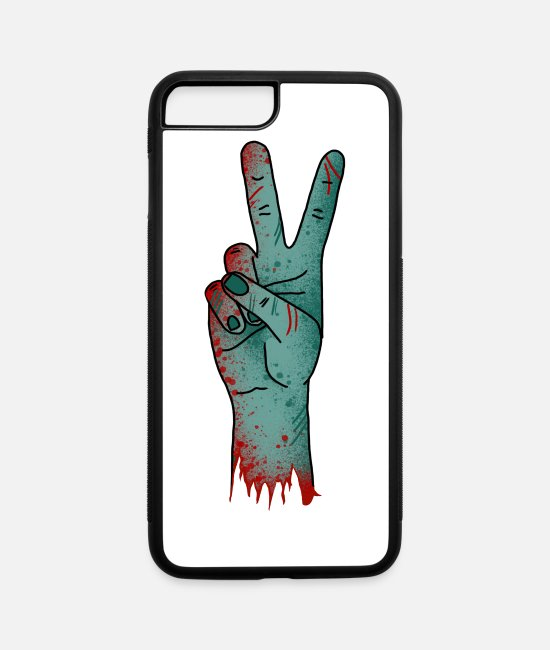 Blood Splatter iPhone Cases - Zombie Hand - iPhone 7 & 8 Plus Case white/black