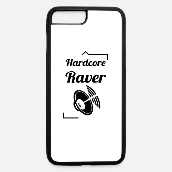 Hardstyle iPhone Cases - Hardcore Raver - iPhone 7 & 8 Plus Case white/black