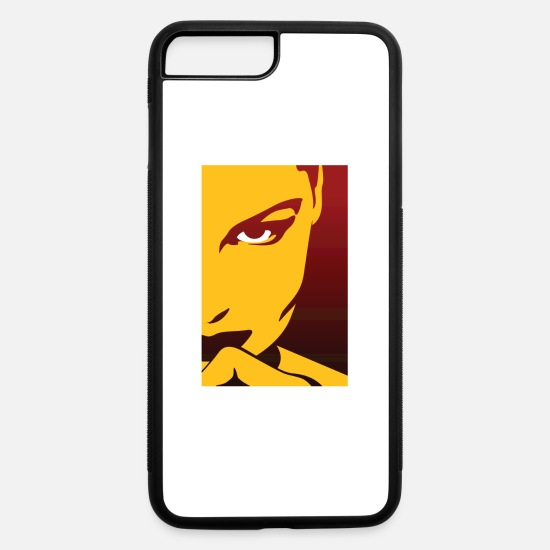 Symbol  iPhone Cases - Face Of An Attractive And Mysterious Woman - iPhone 7 & 8 Plus Case white/black