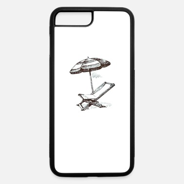 Beach Umbrella Iphone 7 Plus 8 Rubber Case