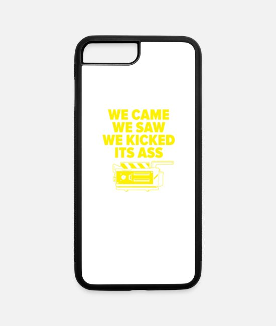 Movie iPhone Cases - Came Saw Kicked Ass - iPhone 7 & 8 Plus Case white/black