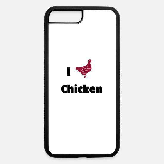 Chicken iPhone Cases - chicken - iPhone 7 & 8 Plus Case white/black