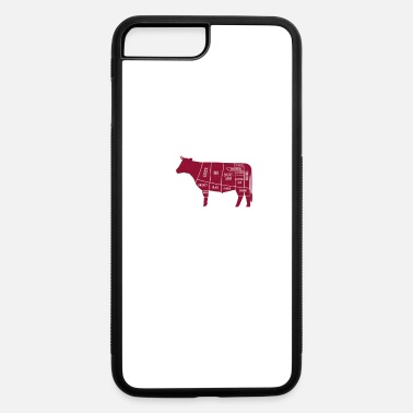 Barbecue Tongs Cow beef butcher butcher bbq steak barbecue - iPhone 7 & 8 Plus Case