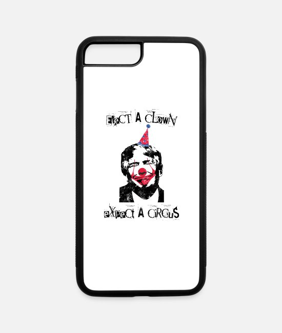 Impeach 45 iPhone Cases - Anti Trump Elect a clown expect a circus gift - iPhone 7 & 8 Plus Case white/black