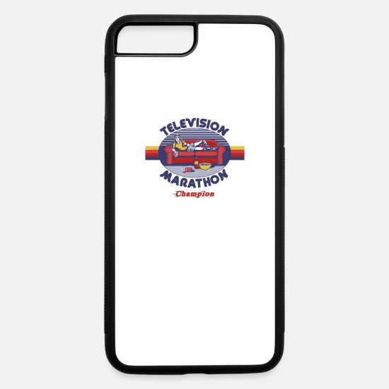 Game iPhone Cases - Television Marathon Champion - iPhone 7 & 8 Plus Case white/black