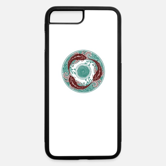 Game iPhone Cases - Circular Swimming - iPhone 7 & 8 Plus Case white/black
