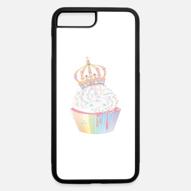 Frost sugary cupcake with candy crown - iPhone 7 & 8 Plus Case