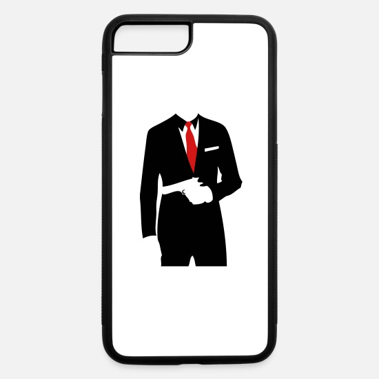 Gun iPhone Cases - Suit Pistol - iPhone 7 & 8 Plus Case white/black