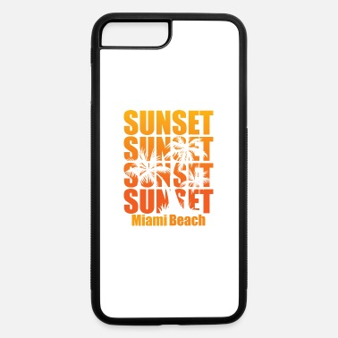 Vacation Miami Beach Summer Sunset Vacation Holiday Gift - iPhone 7 & 8 Plus Case