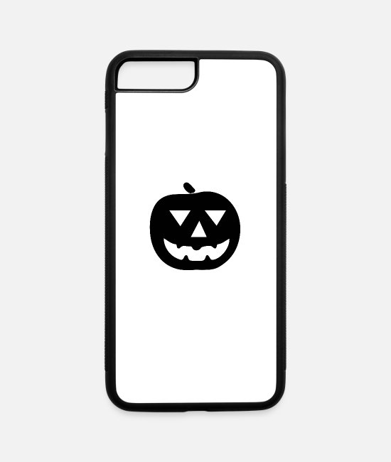 Halloweenpumpkin Symbol iPhone Cases - Halloween-pumpkin Symbol - iPhone 7 & 8 Plus Case white/black