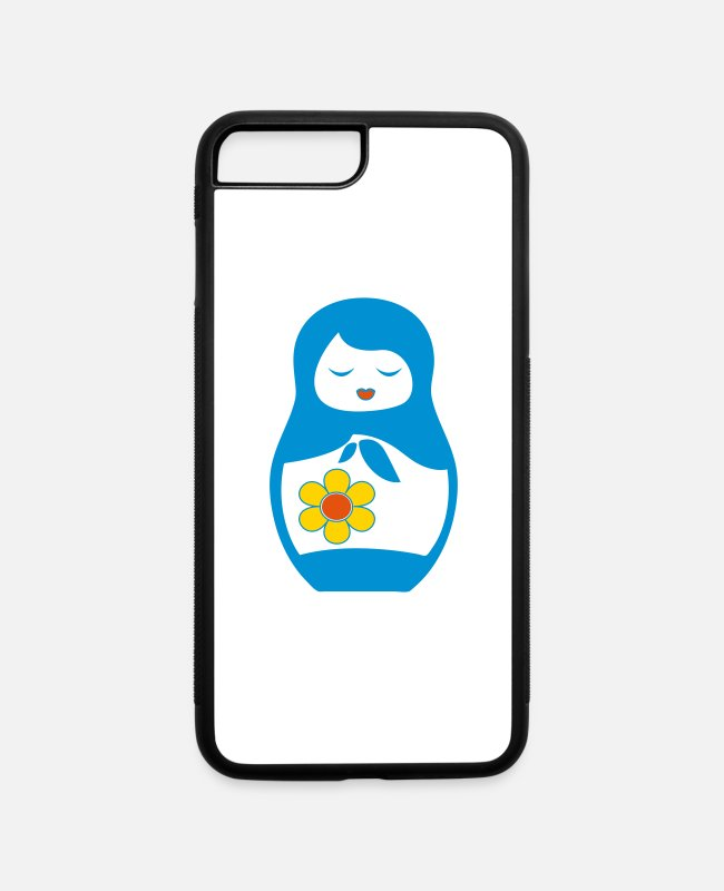 Russian iPhone Cases - Matryoshka russian doll - iPhone 7 & 8 Plus Case white/black