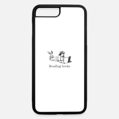 Reading books Woman - 50s black and white - iPhone 7 & 8 Plus Case