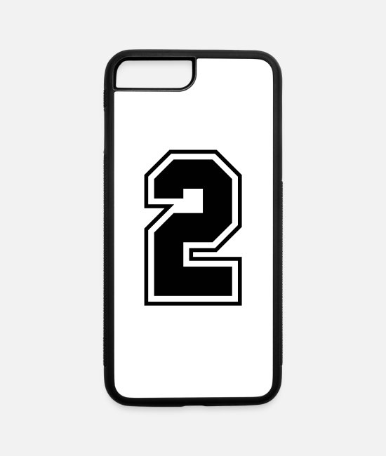 Numbers iPhone Cases - College jersey letter 2 - iPhone 7 & 8 Plus Case white/black