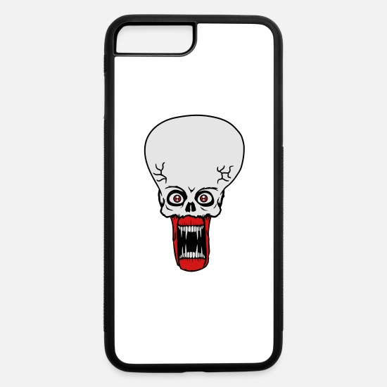 Cosmic iPhone Cases - head face evil ugly disgusting tentacle monster ho - iPhone 7 & 8 Plus Case white/black
