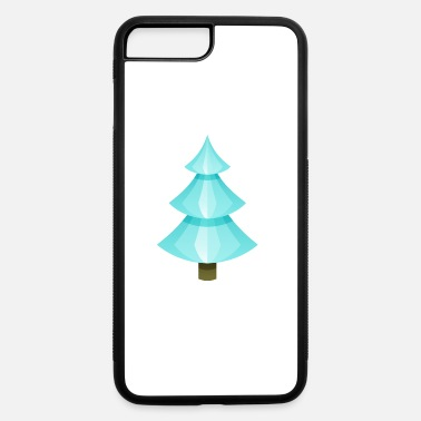 Spruce Ice Christmas tree spruce New Year vector image - iPhone 7 & 8 Plus Case