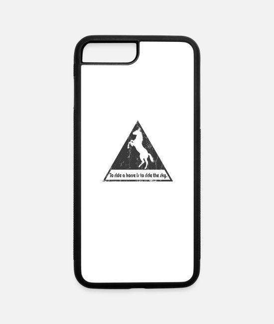 Riding iPhone Cases - To ride a horse is to ride the sky - iPhone 7 & 8 Plus Case white/black