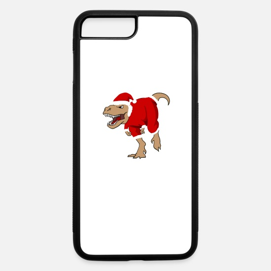 Christmas iPhone Cases - santa Dinosaur hat costume chimney winter bonding - iPhone 7 & 8 Plus Case white/black