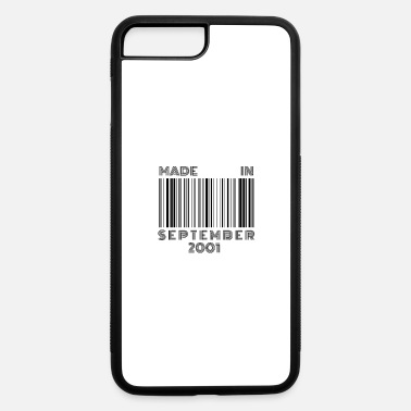 18th Birthday Kids Made in September 2001 | 18th Birthday Barcode - iPhone 7 & 8 Plus Case