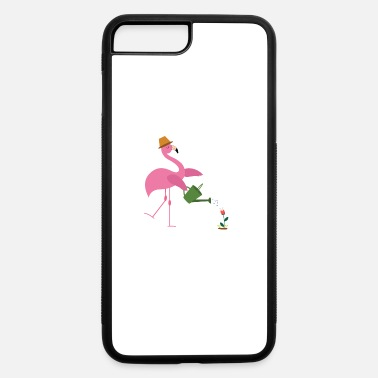 Garden Cute Pink Flamingo Gardening Gardener Flower Gift - iPhone 7 & 8 Plus Case