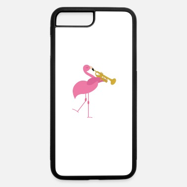 Playing Cute Pink Flamingo Playing Trumpet Musician Gift - iPhone 7 & 8 Plus Case