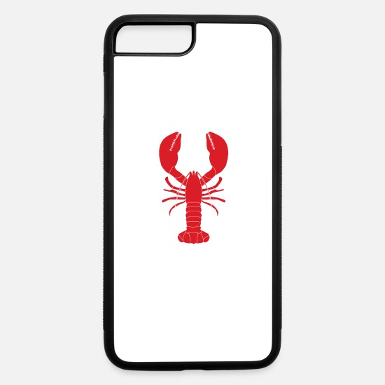 Shrimp iPhone Cases - Colorful Red Lobster Fishing Ocean Seafood Gift - iPhone 7 & 8 Plus Case white/black