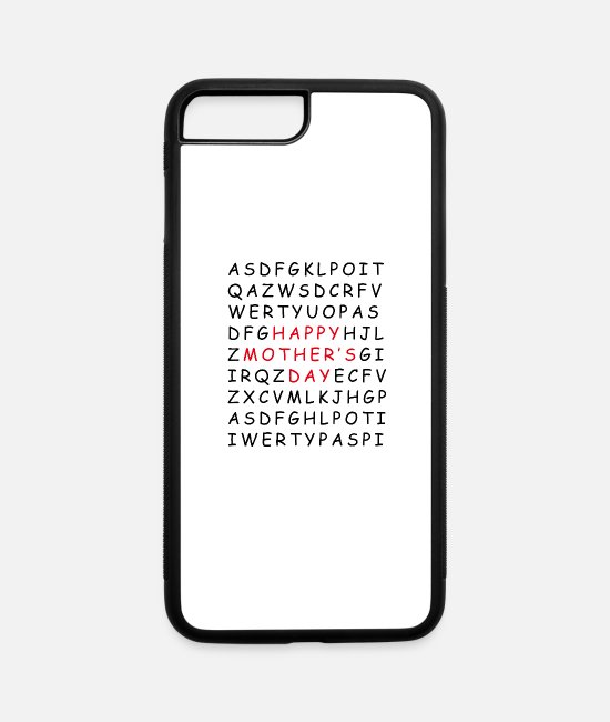 Mothers Day T iPhone Cases - Mother's Day Gift Mother's Day Saying Mother's - iPhone 7 & 8 Plus Case white/black