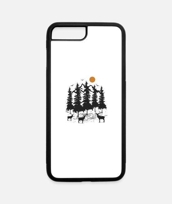 Nature iPhone Cases - Forest - iPhone 7 & 8 Plus Case white/black