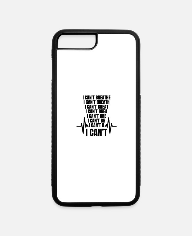 Injustice iPhone Cases - I Can't Breathe Black Lives Matter Heart beat - iPhone 7 & 8 Plus Case white/black