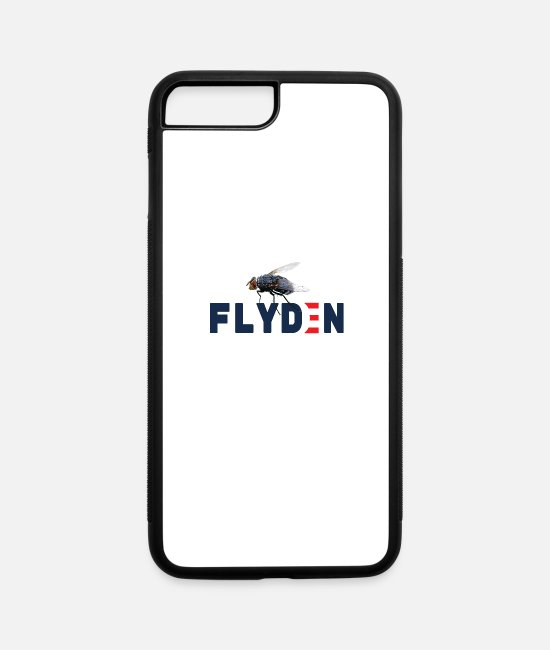 President iPhone Cases - FLYDEN HARRIS 2020 BIDEN FLY SWATTER / Anti Trump - iPhone 7 & 8 Plus Case white/black