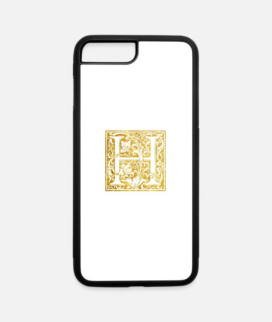 Initial Letter iPhone Cases - Initials-H - iPhone 7 & 8 Plus Case white/black