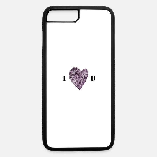 Enigmatic iPhone Cases - FlowHeart wikiMINI 4 - iPhone 7 & 8 Plus Case white/black