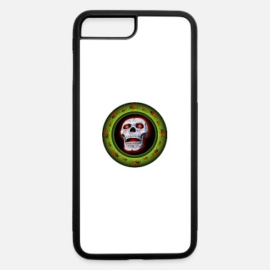 Arachnophobia skull with spiders - iPhone 7 Plus/8 Plus Rubber Case