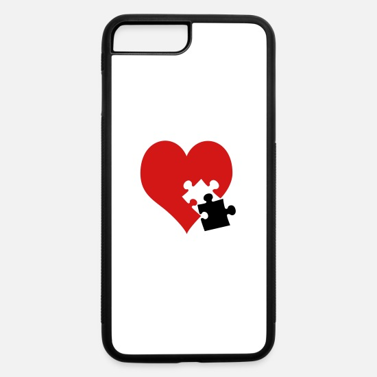 Love iPhone Cases - lovesickness / red heart - iPhone 7 & 8 Plus Case white/black