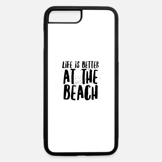 Beach iPhone Cases - At the Beach - iPhone 7 & 8 Plus Case white/black
