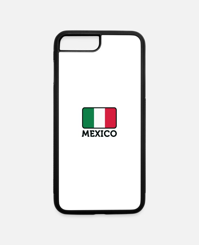 Tijuana iPhone Cases - National Flag Of Mexico - iPhone 7 & 8 Plus Case white/black