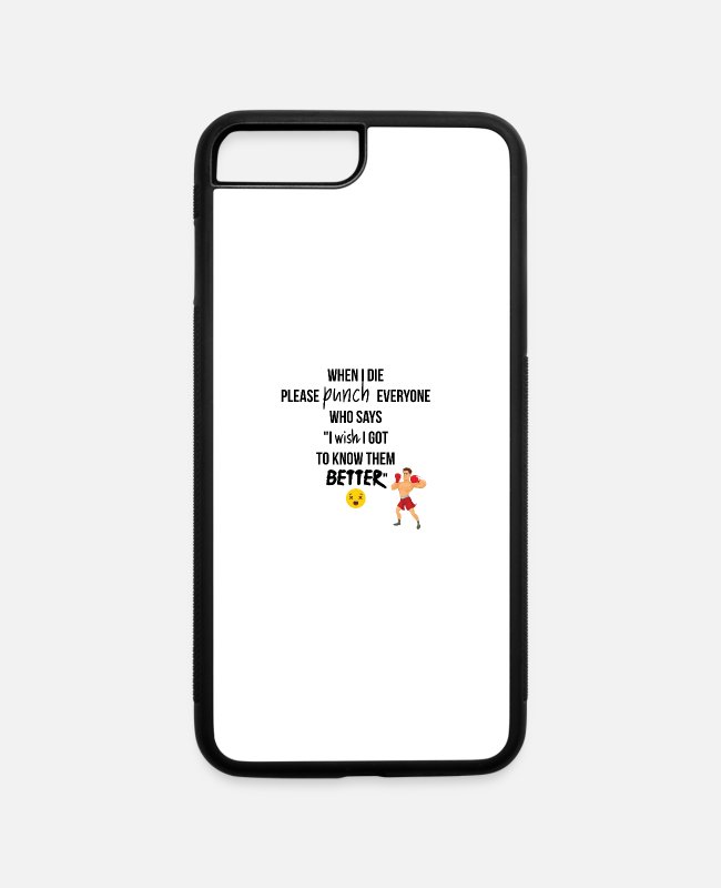 Punch iPhone Cases - Punch everyone - iPhone 7 & 8 Plus Case white/black