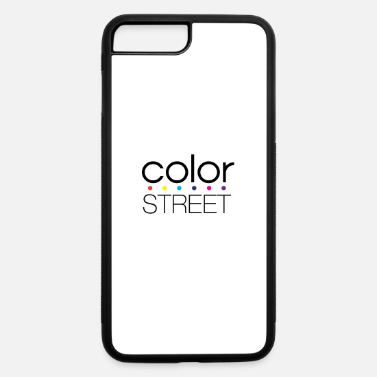 Color iPhone Cases - Color Street Block Color Logo - iPhone 7 & 8 Plus Case white/black