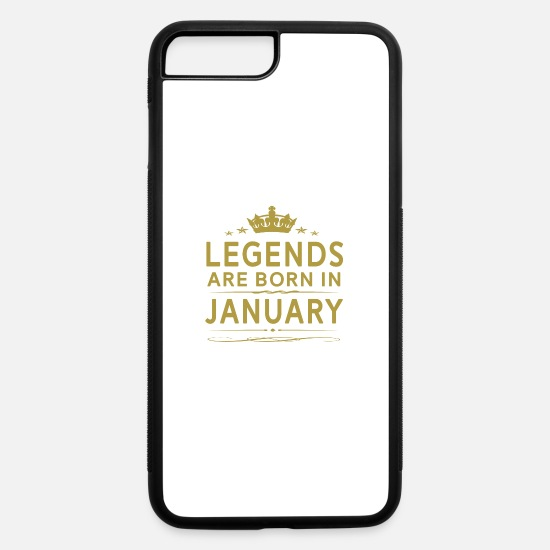 Born iPhone Cases - LEGENDS ARE BORN IN JANUARY JANUARY LEGENDS QUOTE - iPhone 7 & 8 Plus Case white/black