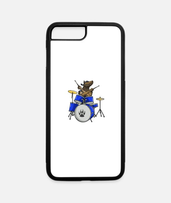 Drummer iPhone Cases - Drummer Dog - iPhone 7 & 8 Plus Case white/black