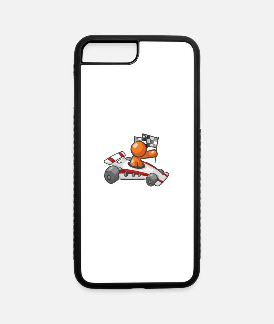 Car iPhone Cases - Race Car Checkered Flag - iPhone 7 & 8 Plus Case white/black