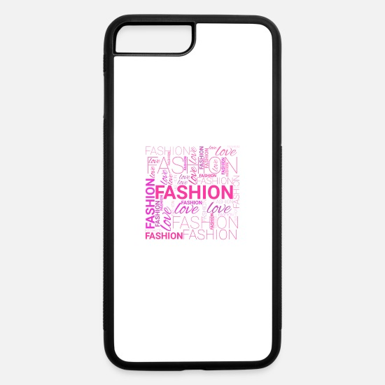 Word iPhone Cases - Fashion Word Art - iPhone 7 & 8 Plus Case white/black