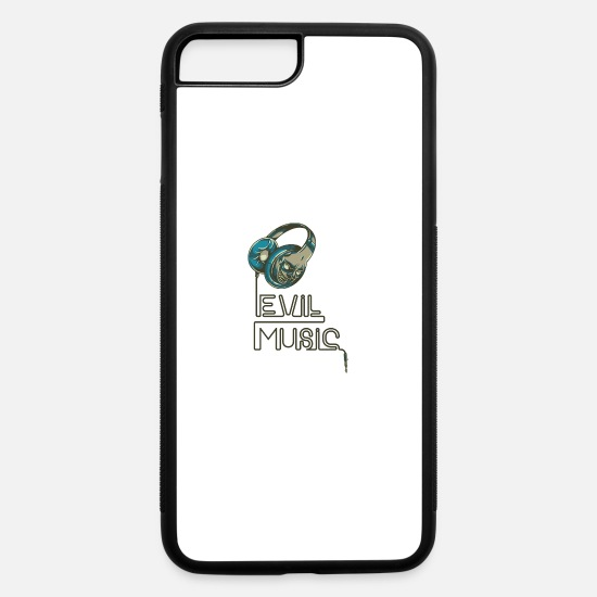 Song iPhone Cases - Evil Music (Metal & Trash Music Fans) - iPhone 7 & 8 Plus Case white/black
