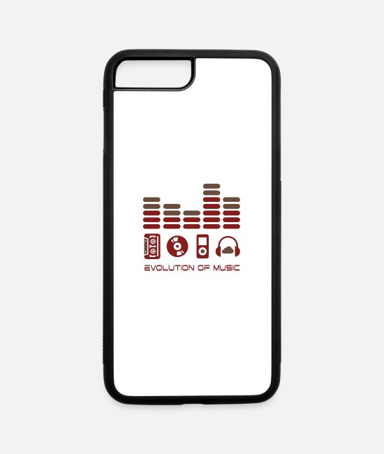 Cd iPhone Cases - Music Evolution Sound Party MP3 Beat Tape CD Cloud - iPhone 7 & 8 Plus Case white/black