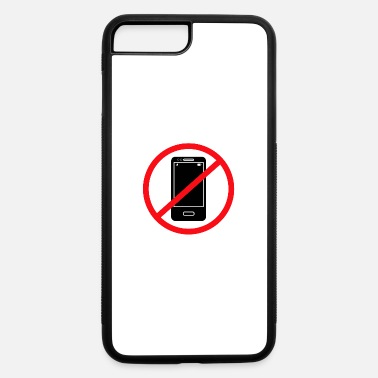 Mobile Phone Vector no mobile phones sign - iPhone 7 Plus/8 Plus Rubber Case