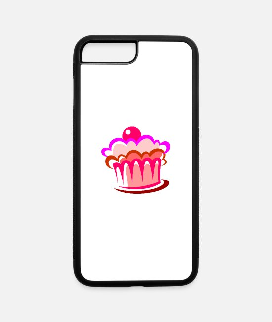 Hipster iPhone Cases - Cake Food - iPhone 7 & 8 Plus Case white/black